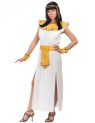 Prachtvolles Cleopatra-Damenkostüm Ägypten weiss-gold