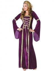 Prachtvolles Mittelalter-Damenkostüm lila-gold