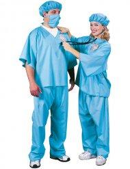 Arzt-Kostüm Chirurg für Erwachsene blau