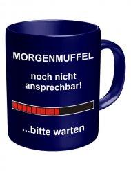 Morgenmuffel-Tasse 320 ml blau