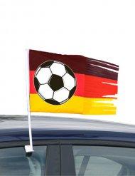 Fußball-Fahne fürs Auto Fanartikel für Fussball-Fans schwarz-rot-gelb 45x30cm