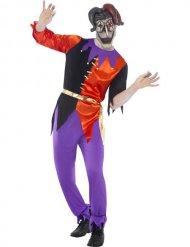 Horror Harlekin Kostüm für Erwachsene Halloween