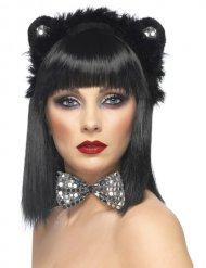 Set Katze schwarz und silber Erwachsene