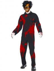 Psycho-Horrorclown Halloween-Kostüm für Herren schwarz-rot