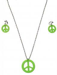 Halskette und Ohrringe Hippie Erwachsene