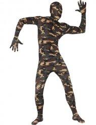 Camouflage Second Skin-Anzug für Erwachsene grün-braun
