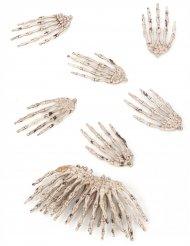 12 schaurige Skelett-Hände Halloween