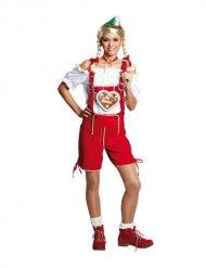 Rote Lederhose für Damen Oktoberfest