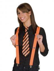 Gestreifte Krawatte orange-schwarz