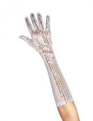 Lange Handschuhe mit Pailletten für Damen