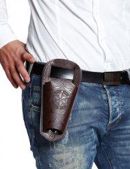 Cowboy Holster braun Erwachsene