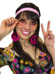 Set Hippie 60er und 70er Jahren Frau