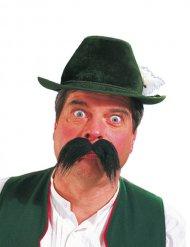 Dicker bayrischer Schnurrbart für Erwachsene schwarz