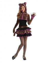 Leoparden Kostüm für Mädchen braun-pink
