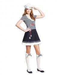 Matrosin-Teenager Seefahrerin blau-weiss