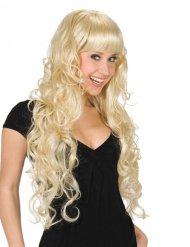 Lange Haare Perücke mit blonden Fransen