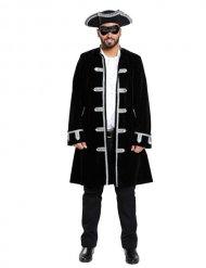 Venezanischer Piraten-Mantel für Erwachsene schwarz silber