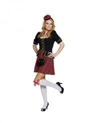 Schotten Kostüm gold rot schwarz Damen