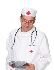 Arzthaube rotund weiß