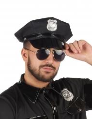 Schwarze Polizisten Kappe