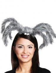 Spinnen-Haarreif Kopfbedeckung Halloween grau