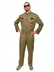 Jetpiloten-Kostüm für Herren Khaki
