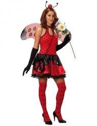 Marienkäfer Kostüm für Damen rot