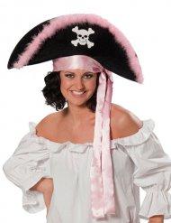 Piraten-Bedeckung schwarz und rosa Damen