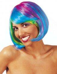 Mehrfarbenfluoreszenz Perücke Damen
