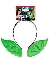 Haarreif Elfen-Ohren grün Erwachsene