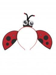 Marienkäfer Stirnband mit rot-schwarzen Mädchen Flügeln und Augen