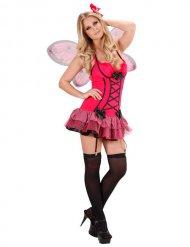 Sexy Schmetterling Damenkostüm pink-schwarz