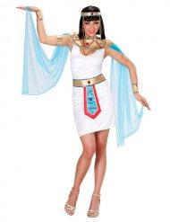 Ägypterin-Damenkostüm Kleopatra weiss-türkis-gold