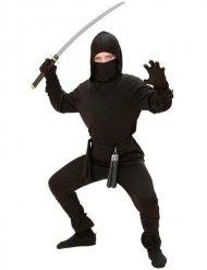 Ninja Kostüm schwarz Kinder