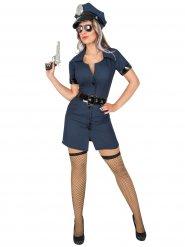 Polizeiuniform Kostüm dunkelblau schwarz Damen