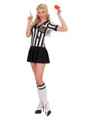 Schiedsrichter Kostüm für Damen schwarz-weiss