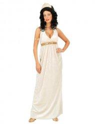 Antike-Göttin römisches-Damenkostüm weiss-gold