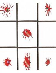 Blutige-Aufkleber Halloween-Deko 12-teilig rot