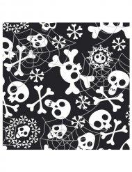 20 Halloween-Servietten - Totenköpfe - schwarz/weiss