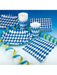 Set 20 dekorative Handtücher Bavarian Festival in Blau und Weiß