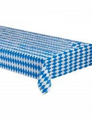 Tischdecke Bayerische weiß und blau kariert 260x80cm