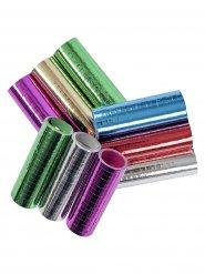 3 Luftschlangen metallic-farben