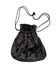 Beuteltasche Samt-Look schwarz