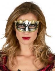 Venezianische Maske vergoldet und Glitzer Erwachsene