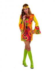 Hippie Kostüm gelb Frau