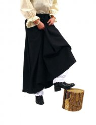 Halloween-Kostüm - langer Hexenrock - schwarz