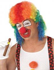 Psycho Clown Perücke für Erwachsene bunt