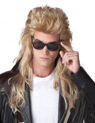 Vokuhila Perücke 80er Jahre blond