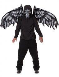 Böser Dämon Kostümzubehör Maske und Flügel Halloween schwarz