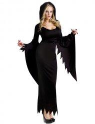 Verführerisches Hexen-Kostüm für Damen schwarz